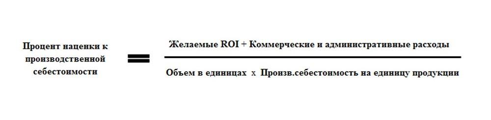 формула наценки
